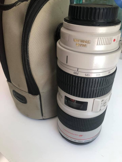 Lente Canon 70-200 1:2.8 L Is Ii Usm 12x Sem Juros. Linda!