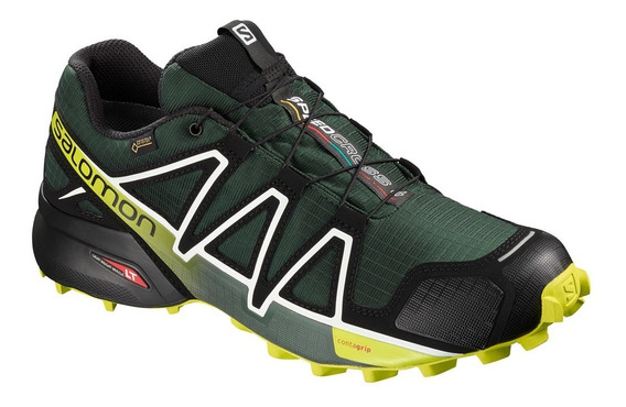 Tenis Salomon Hombre Trail Running Speedcross 4 Gtx Verde