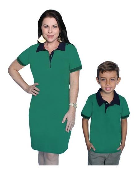 Kit 02 Un Tal Mãe Tal Filho Vestido E Camisa Camiseta Polo