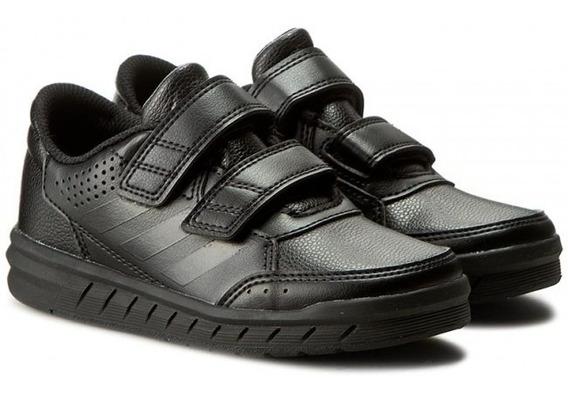 Tenis Escolar Negro adidas Alta Sport Cf K Ba9526