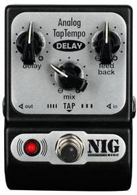 Pedal Analog Tap Tempo Delay Padt Nig Nf Garantia + Brinde