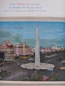 Álbum Com Doze Cartões Postais De Buenos Aires Ano De 1958