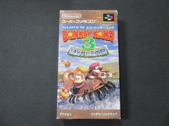 Donkey Kong 3 Completo Original Super Famicom Snes 5478