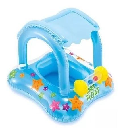 Boia Bote Inflável Infantil Bebê Com Cobertura Assento Frald