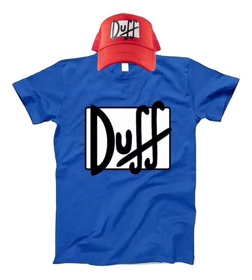 Remera De Los Simpsons Duff Duffman + Gorra / Imperdible!!!