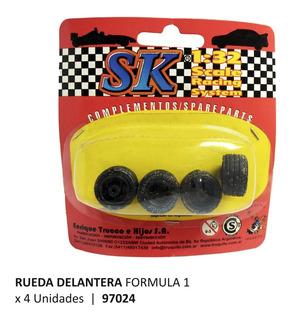 Ruedas Delanteras Para F1 Escala 1/32 Marca Sk 97024