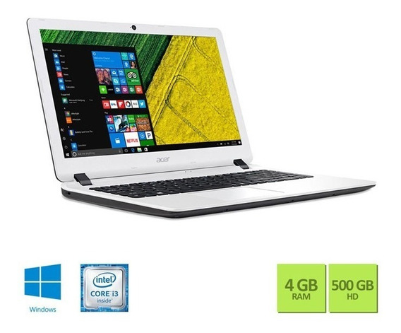 Notebook Acer Teclado Numerico Core I3 6006u 4gb 500gb Win10