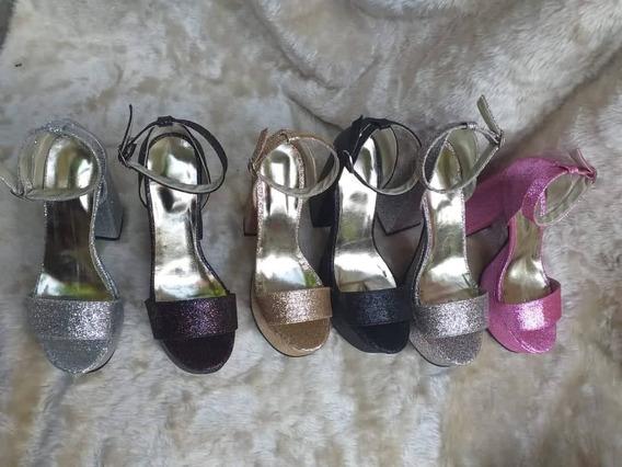 Sandalias De Fiesta Con Plataforma Con Glitter