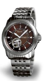 Relógio Luxo Bulova Bva 96a101 Orig Anal Mecautom Silver!!!