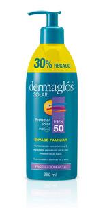 Protector Solar Dermaglos Fps 50 X 380ml Envase Familiar