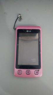 Celular Lg Rosa Mod. Kp500 P/ Retirar Peça S/bateria Ref;a13
