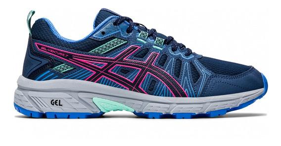 Zapatillas Asics Gel Venture 7 W Azul/rosa Mujer - Trail Run