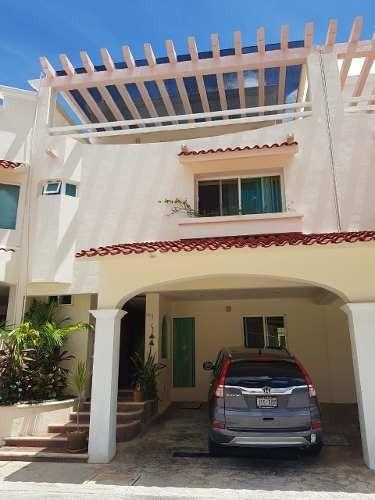 Hermosa Casa En Condominio En Renta Venta Alberca Comun Sm17