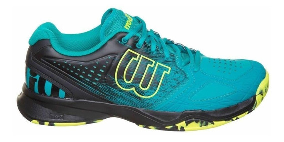 Tenis Wilson Kaos Comp All Court Verde E Preto