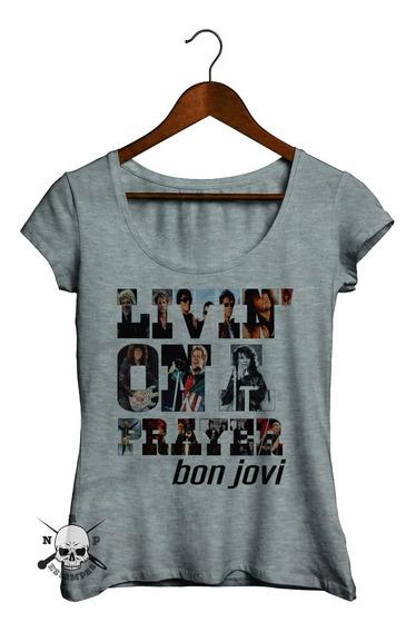 Remeras De Mujer - Bon Jovi #02 - Livin