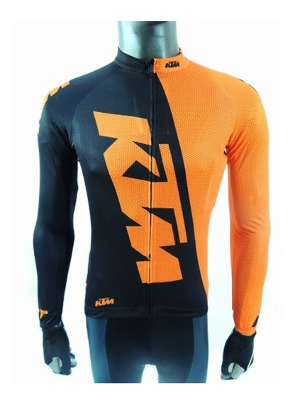 Remera / Jersey M/ Larga Ciclismo Ktm Factory Team Oficial