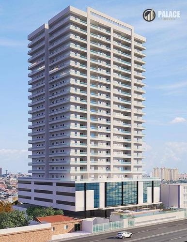 Apartamento Com 2 Dormitórios À Venda, 98 M² Por R$ 520.000,00 - Caiçara - Praia Grande/sp - Ap2680