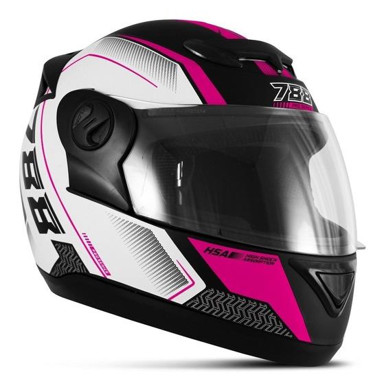 Capacete Feminino Esportivo Evolution G6 Series Racing Rosa