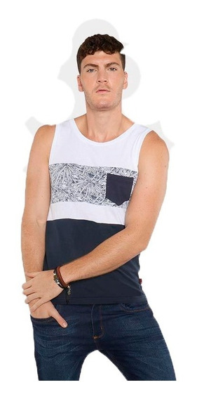 Camiseta Tank Top Azul Gym Playa Ropa Gimnasio Deportiva Mar