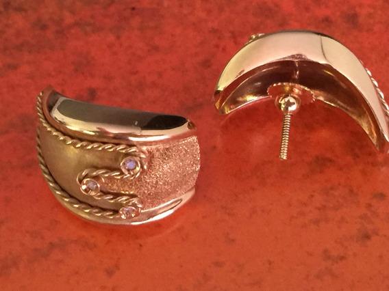 Brincos Lindos Em Ouro 18k-750 Peso: 9.7 G Com Brilhantes