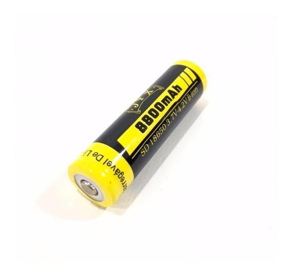 Bateria 18650 3.7/4.2v Li-ion Recarregável 8800mah Vermelha