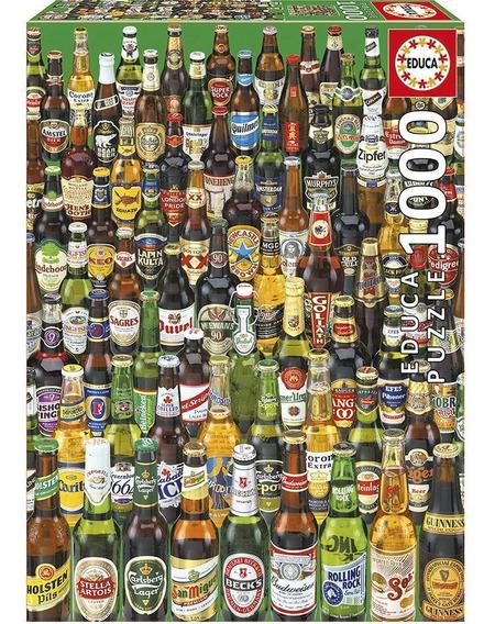 Puzzle 1000 Peças Cervejas Do Mundo - Educa - Importado Grow