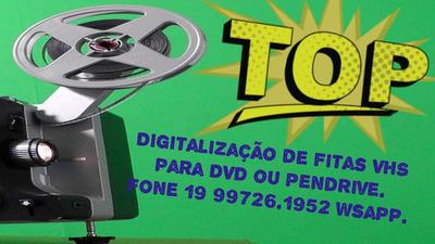 Digitalização Fitas Vhs Para Dvd Ou Pendrive.