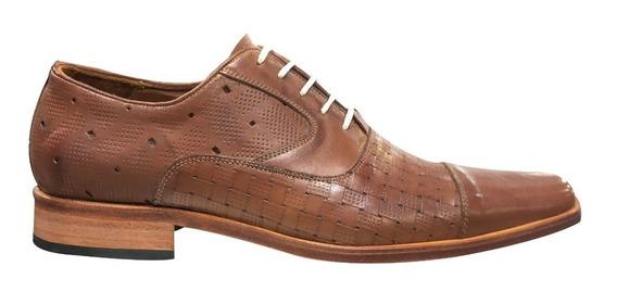 Zapato Vestir Hombre Cuero Gastado Base Suela Jr 4712