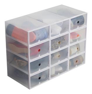 Organizador De Zapatos Pack 12 Hasta Talle 40 Transparente