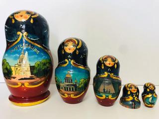 Muñeca Matryoshka 100% Rusa Original Pintada A Mano