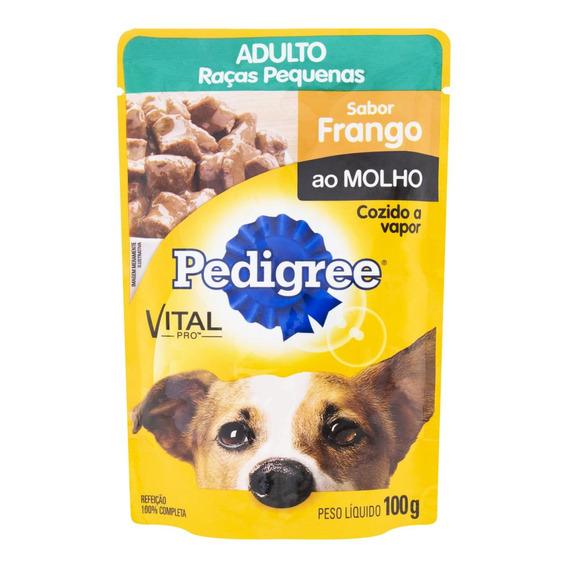 Ração Pedigree Cães Adultos Sabor Frango Sachê 100g