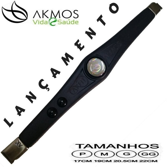 Kit 3 Pulseira Bracelete Akmos Magnéticos E Terapeutica[