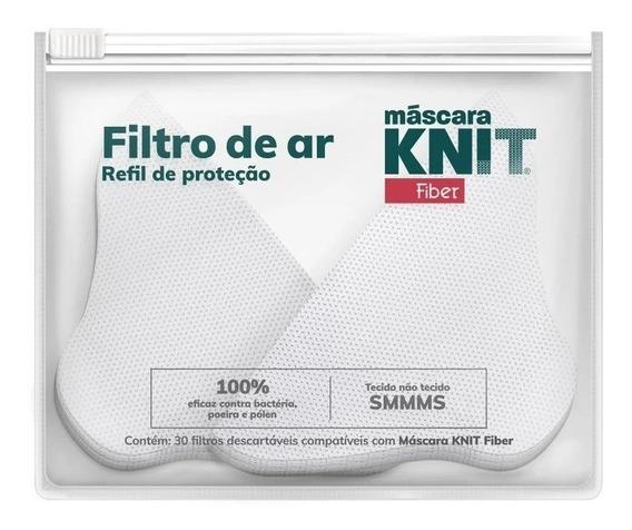 Filtros De Proteção Para Máscaras Knit Fiber - 30 Unidades