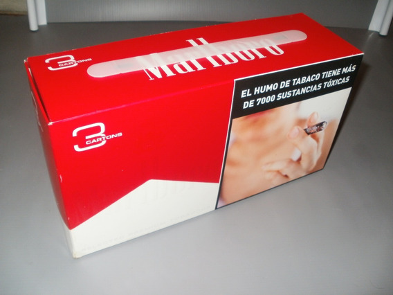 Caja Grande Cigarrillos Marlboro Vacía 29x15x9cm X Caballito
