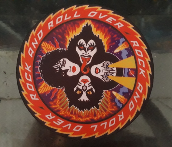 Patch Kiss - Rock And Roll Over - Medidas: 25x25