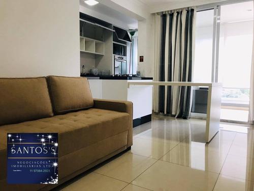 Imagem 1 de 30 de Apartamento, 45 M² - Venda Por R$ 650.000,00 Ou Aluguel Por R$ 3.400,00/mês - Brooklin - São Paulo/sp - Ap1818