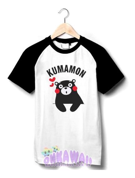 Oso Kumamon - Remera Ranglan Unisex - Estilo Kpop - Kawaii