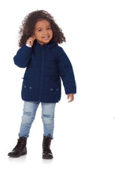 Jaqueta Capuz Infantil Feminina Microfibra Frio 01 A 03 Anos