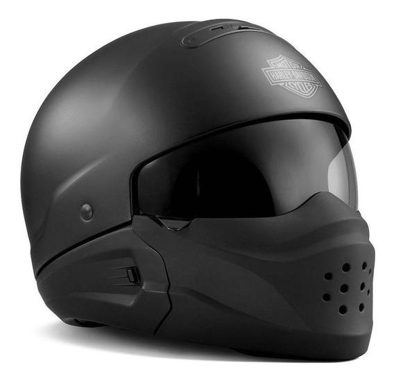 Capacete para moto multi-modular Harley-Davidson Pilot matte black XXL
