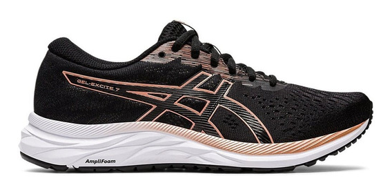 Zapatillas Mujer Asics Gel Excite 7 W Negro/rosa - Running