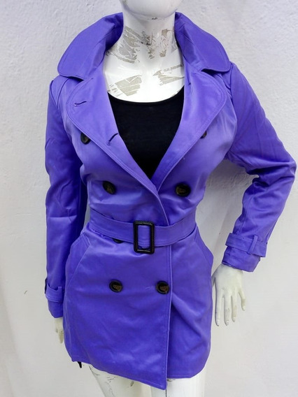Gabardina Color Violeta De Dama 02