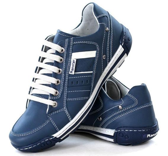 Sapatenis Tenis Sapatotop Shoes Forrado Couro Legitimo Luxo