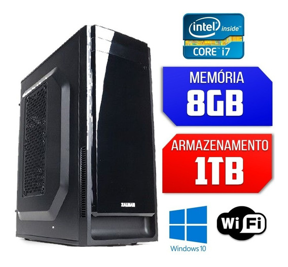Computador Duststorm Intel Core I7 8gb Hd 1tb Windows 10