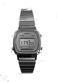 Relogio Casio La670wa-7 Aço Retrô Vintage Alarm Caixa Origin
