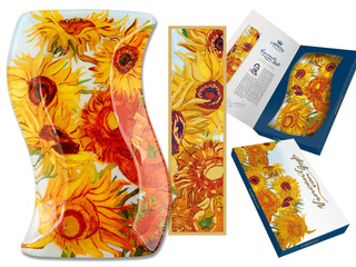 Plato En Cristal Irregular 15 X23 Cm Los Girasoles Van Gogh