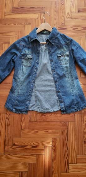 Camisa De Jean Azul Impecable