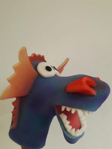 Titeres Dragon Manopla De Goma Espuma Colores En Fuga Kids