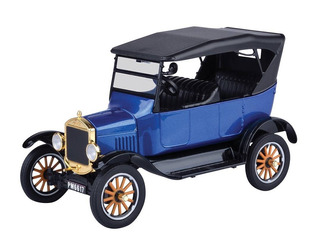 Ford Model T Touring 1925 1/24 Blue Motor Max Colec Platinum