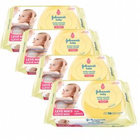 Lenços Umedecidos Recém Nascido Johnsons Baby C/384 Unidades