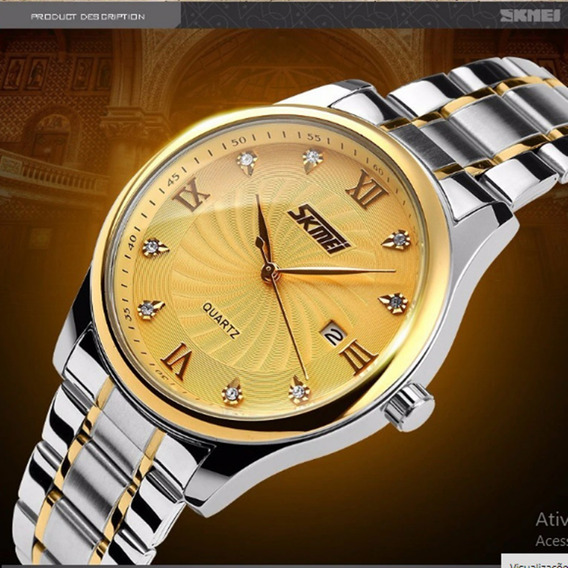 C1) Relógio Skmei Luxo Modelo 9101- Frete Grátis- Promoção Oferta